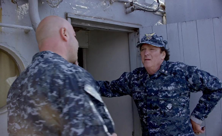 Dominic with Michael Madsen in Megalodon